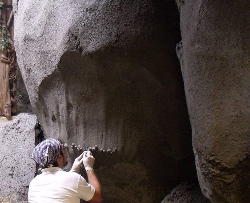 Detaileren van kunstmatige rots