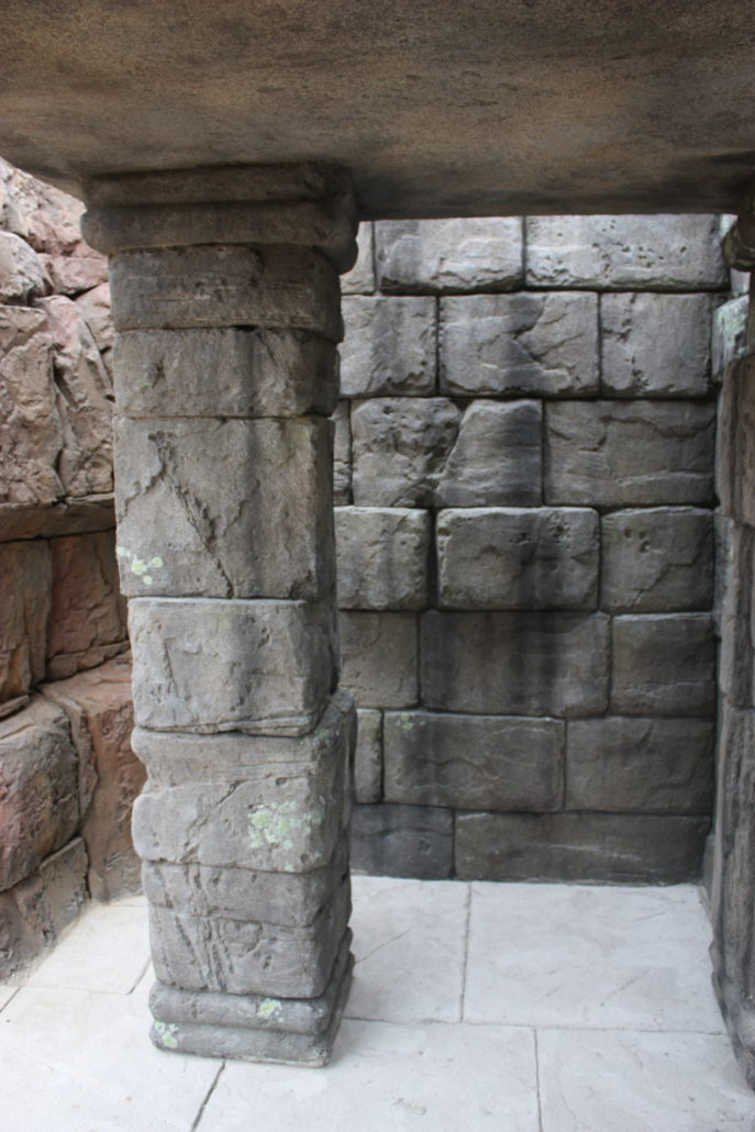 Thematische stenen muur