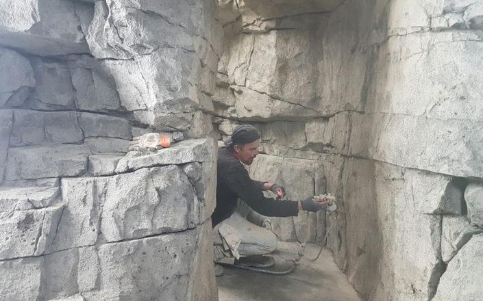 Afwerken van rots inrichting
