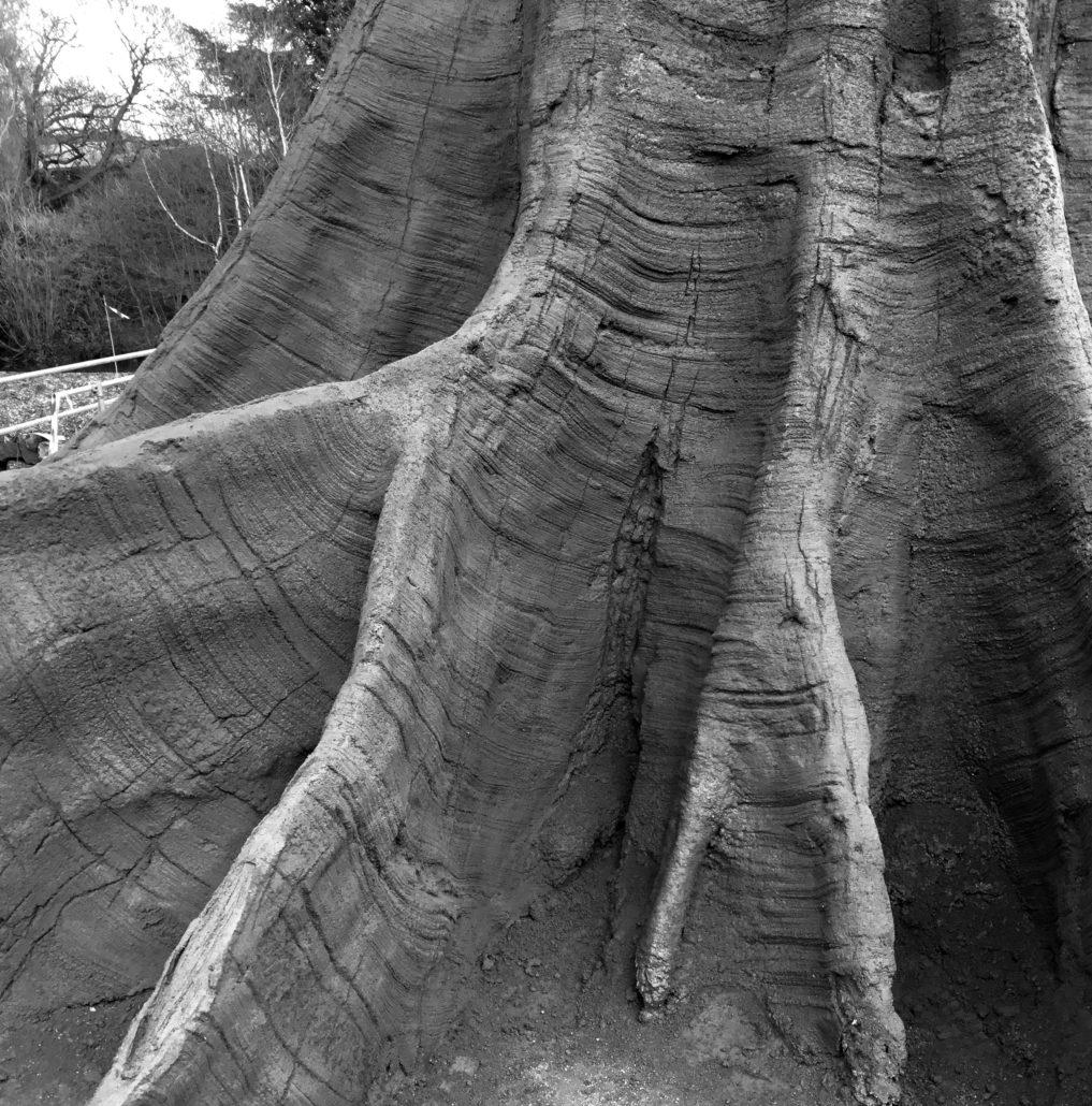 Onderkant kunstboom