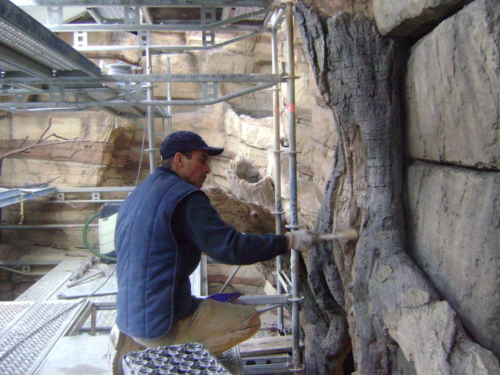 Betonprofessional aan het werk