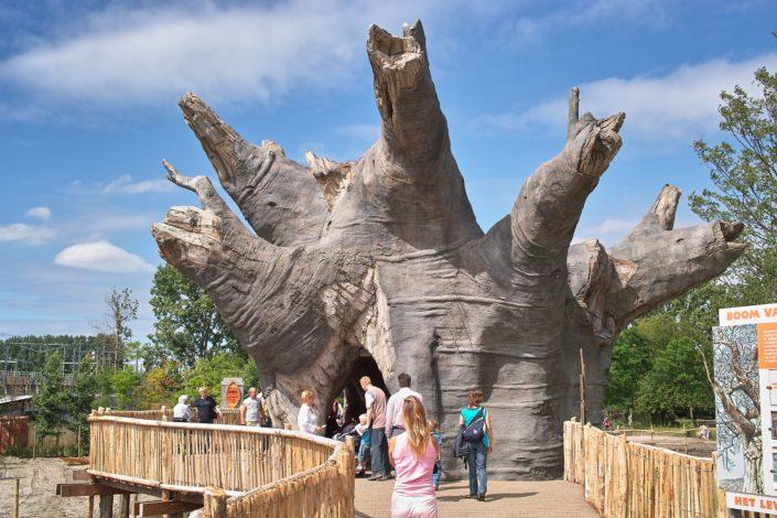 Kunstboom met doorgang