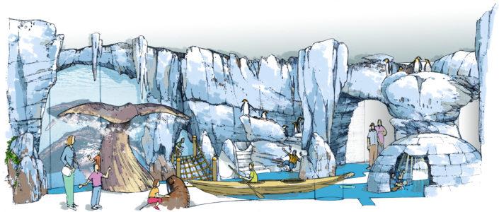 Ontwerp pinguïn verblijf